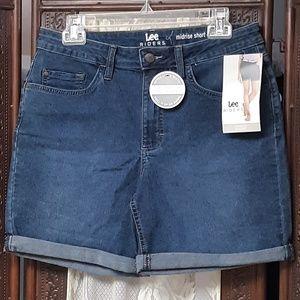 Lee Riders Midrise Blue Denim Shorts